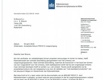 Verbeterde bitumineuze voegovergang goedgekeurd door Rijkswaterstaat.